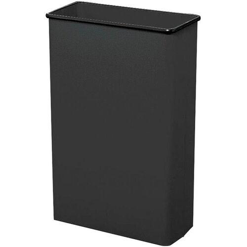 88 Qt Puncture Resistant Steel Rectangular Wastebaskets - Set of Three -Black