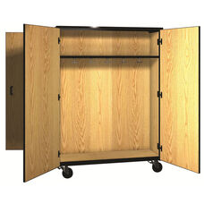 Denali 1000 Series Mobile Double Faced Combo Unit with Doors, 13 Double Hooks, and 1 Adjustable Shelf