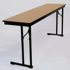C-Leg Rectangular Table with Bumper T Molding and Plywood Top - 18