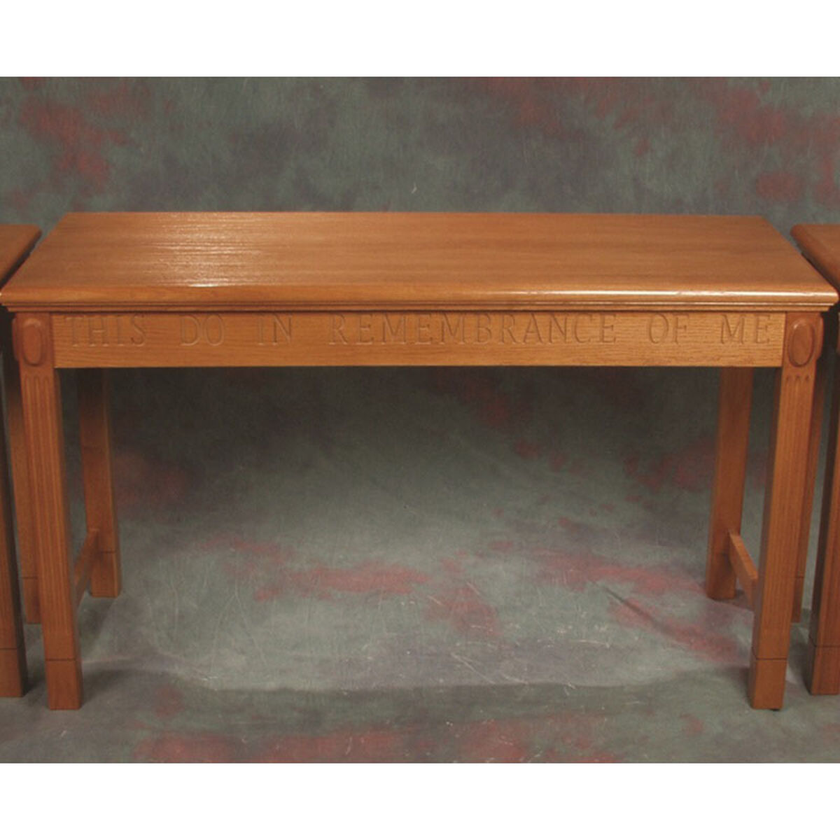 red oak open communion table tot-105 | bizchair