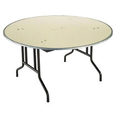 Customizable 810 Series Multi Purpose Round Deluxe Hotel Banquet/Training Table with Plywood Core Top - 54