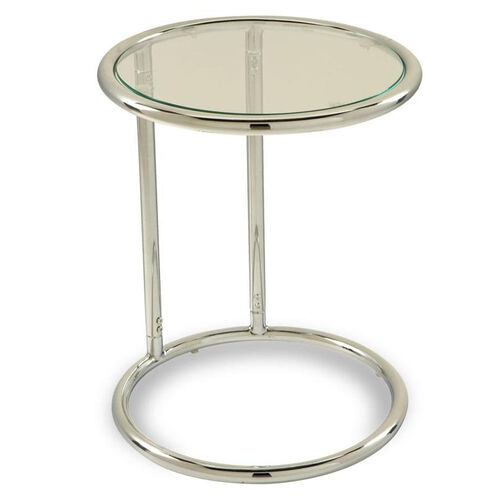 Our Ave Six Yield Tempered Glass Circle Table With Chrome