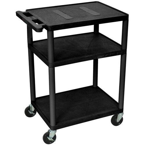 Our Endura 3 Shelf Mobile A/V Cart - Black - 24