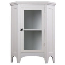 Madison Corner Floor Cabinet - White