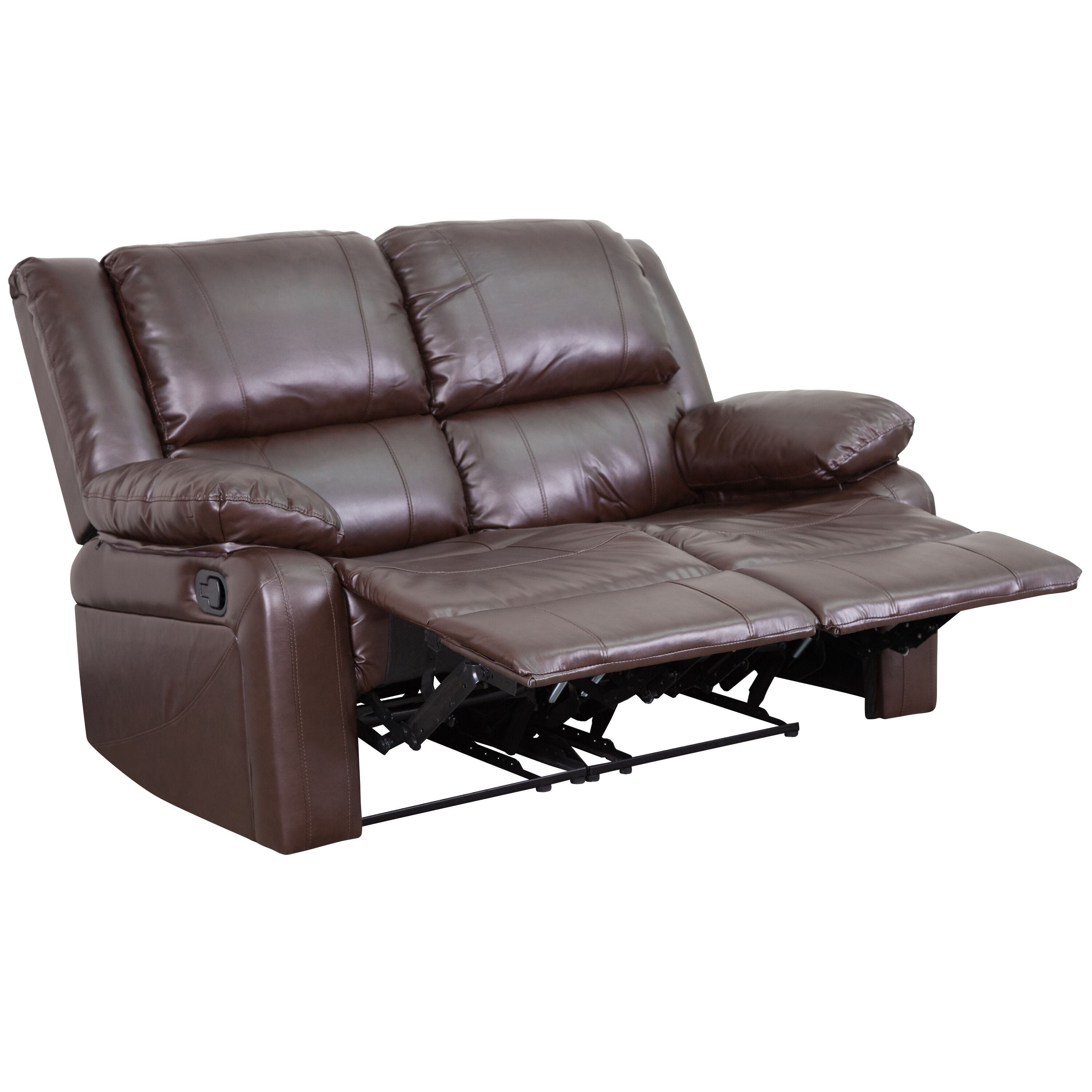 Genial ... Our Harmony Series Brown Leather Loveseat With Two Built In Recliners  Is On Sale Now ...