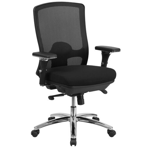 Our HERCULES Series 24/7 Intensive Use Big & Tall 350 lb. Rated Black Mesh Multifunction Swivel Ergonomic Office Chair is on sale now.
