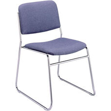 300 Series Stacking Chrome Steel Frame Armless Guest Chair with Sled Base and 2