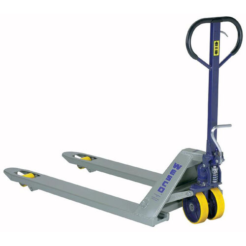 Our Deluxe Foot Pump Pallet Truck is on sale now.
