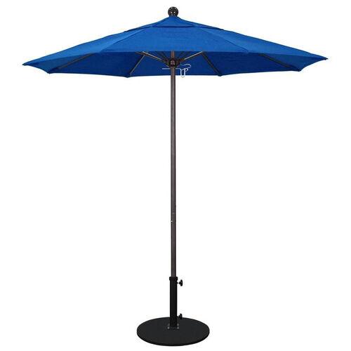 7.5 Ft. Market Umbrella with Push Lift and Single Wind Vent - Bronze Aluminum Pole