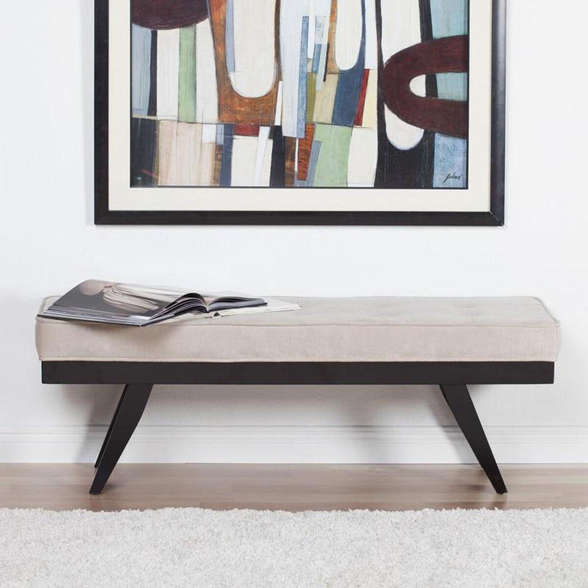 Parvise Upholstered Backless Bench 70163 Bizchaircom
