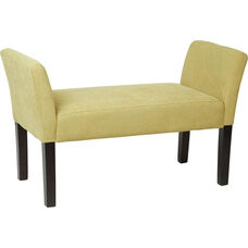 Ave Six Kelsey Upholstered Fabric Bench with Tapered Wood Legs - Shultz Basil