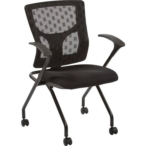 Our Pro-Line II ProGrid Checkered Mesh Back Folding Chair - Set of 2 - Black and Coal is on sale now.