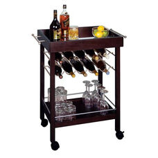Bar Cart with Mirror Top