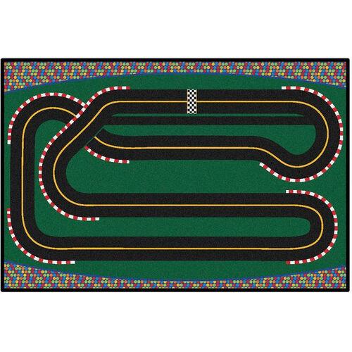 Our Kids Value Super Speedway Racetrack Rectangular Nylon Rug - 36