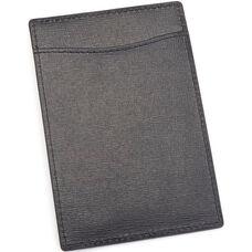 RFID Blocking Slim Travel Passport Wallet - Saffiano Genuine Leather - Black