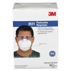 3M Particulate Respirator w/Cool Flow Exhalation Valve - 10 Masks/Box