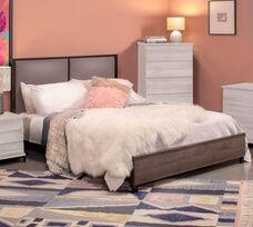 OSP Designs Braydon Complete Queen Bed - Oak