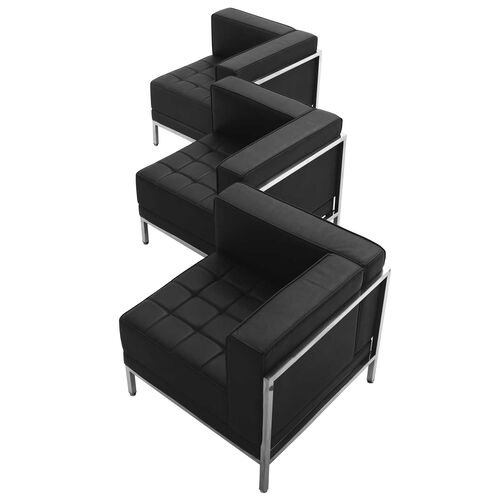 Our HERCULES Imagination Series Black Leather 3 Piece Corner Chair Set is on sale now.