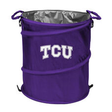 Texas Christian University Team Logo Collapsible 3-in-1 Cooler Hamper Wastebasket