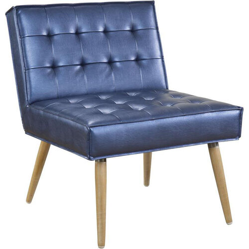 Our Ave Six Amity Tufted Accent Chair with Solid Wood Legs - Sizzle Azure is on sale now.
