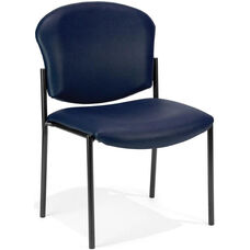 Manor Anti-Bacterial and Anti-Microbial Vinyl Guest and Reception Chair - Navy