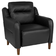 Newton Hill Upholstered Bustle Back Arm Chair in Black LeatherSoft