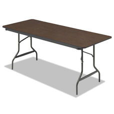 Iceberg Economy Wood Laminate Folding Table - Rectangular - 72w x 30d x 29h - Walnut