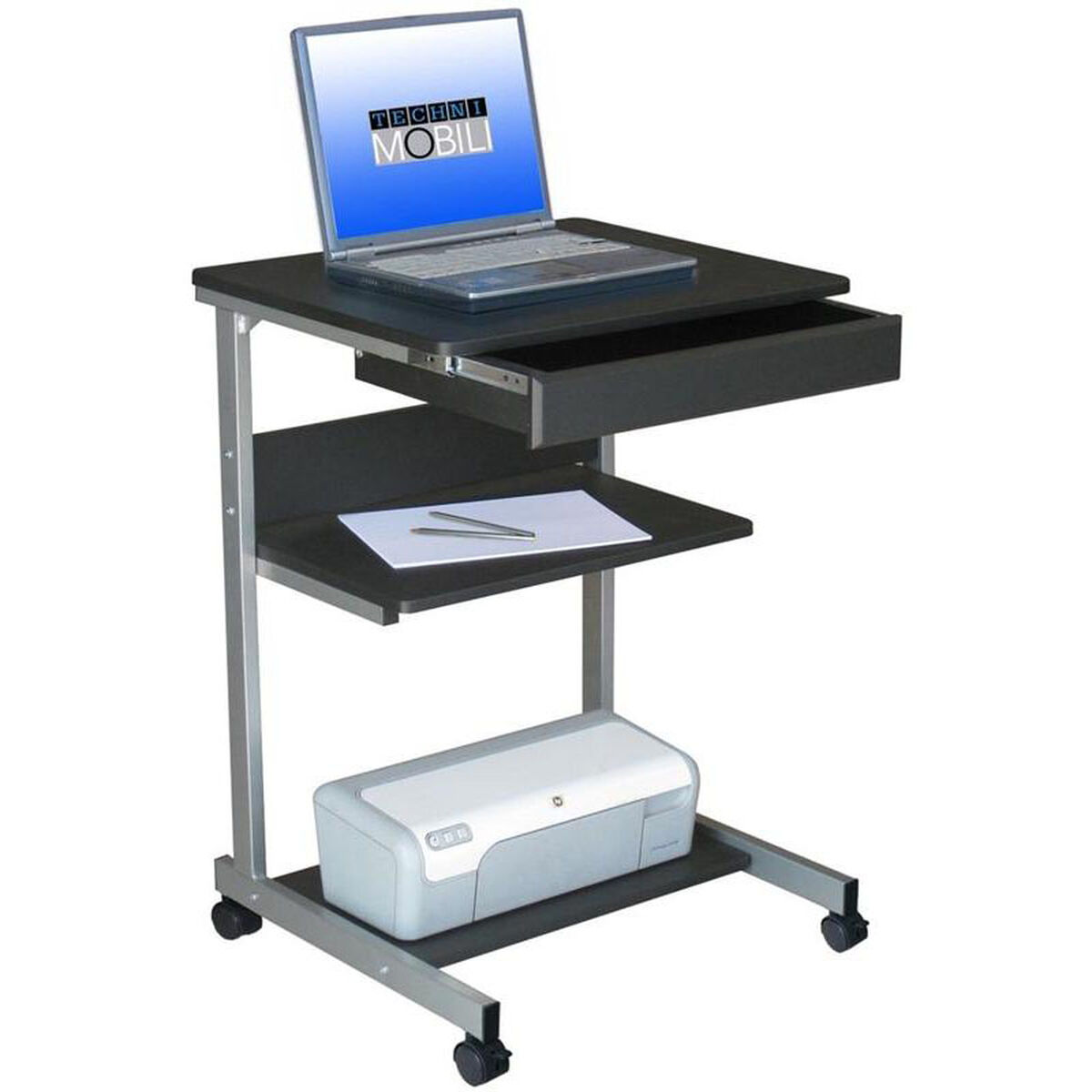 Our Techni Mobili Rolling Laptop Desk With Storage Graphite Is On Now