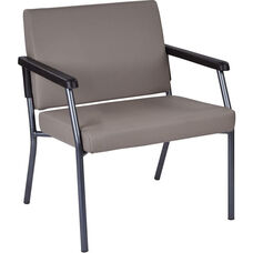 Work Smart Bariatric Big & Tall Guest Chair with 400 lb. Weight Capacity - Dillion Stratus Antimicrobial Vinyl