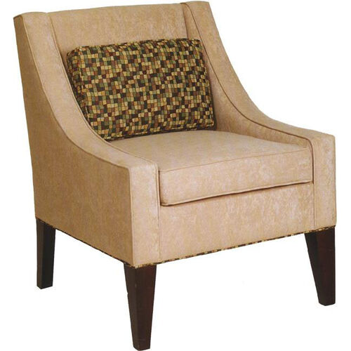 8760 Upholstered Lounge Chair w/ Tapered Wood Leg - Grade 1