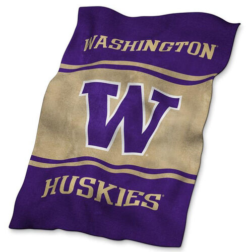University of Washington Team Logo Ultra Soft Blanket