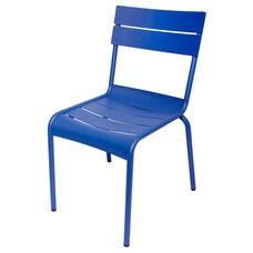 Beachcomber Stackable Outdoor Aluminum Armless Chair - Berry