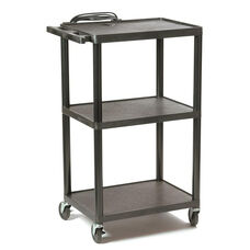Height Adjustable Plastic AV Cart