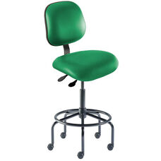 Quick Ship Elite Series Chair Ergonomic Seat and Tubular Steel Base - High Seat Height