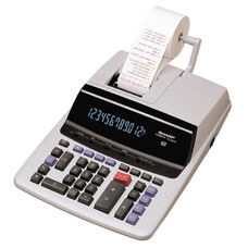 Sharp 12 Digit Calculator - 2 Color Printing - 9 1/2