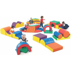 Gross Motor Skills Play Center Group with Twenty Eight Super Soft Safe Young Children Sized Play Forms