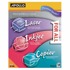 Apollo All-Purpose Transparency Film - Pack Of 50