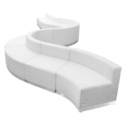 Our HERCULES Alon Series Melrose White LeatherSoft Reception Configuration, 10 Pieces is on sale now.