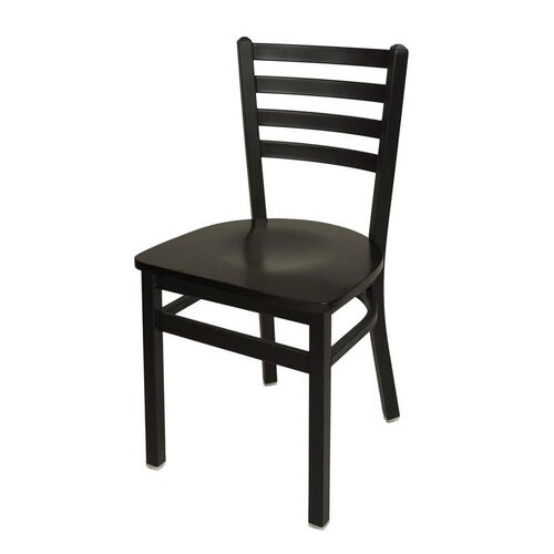 Our Lima Metal Ladder Back Chair - Black Wood Seat is on sale now.