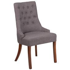 HERCULES Paddington Series Gray Fabric Tufted Chair