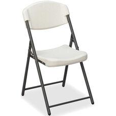 Rough 'N Ready Economy 33.5'' H Folding Chair - Set of Four - Platinum
