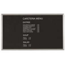 Framed Letter Board Message Center with Aluminum Frame - 36