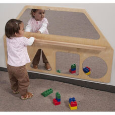Toddlers Panel with Balance Bar and Shatterproof Acrylic Mirrors