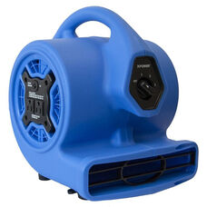 P-100A Mini Air Mover with Built-in Power Outlets for Daisy Chain Capability and 1/8 HP