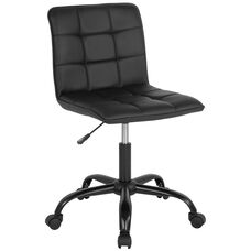 Sorrento Home and Office Task Chair in Black Leather