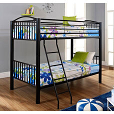 Heavy Metal Twin Over Twin Bunk Bed - Black