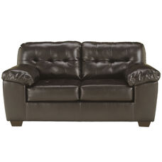 Signature Design by Ashley Alliston Loveseat in Chocolate Faux Leather