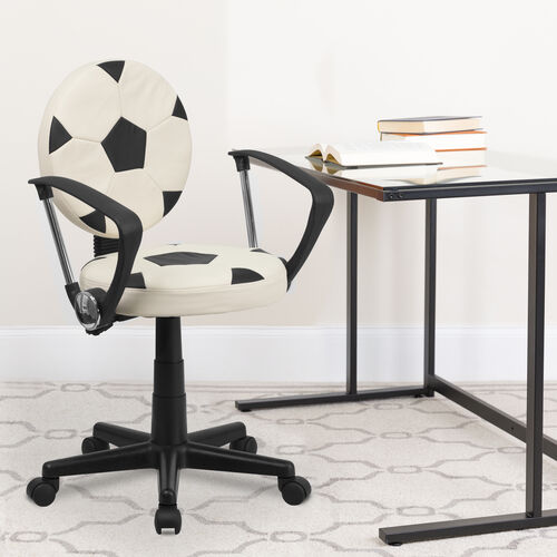 Sports Swivel Task Office Chair with Arms
