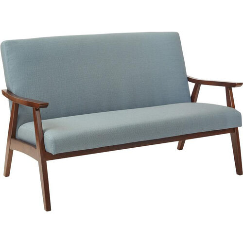 Our Ave Six Davis Loveseat - Klein Sea and Medium Espresso is on sale now.