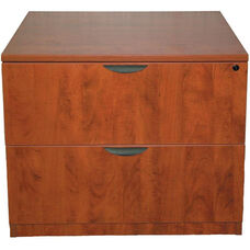 Cherry 2 Drawer Lateral File with Lock